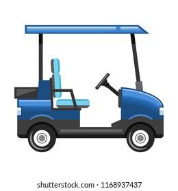 Golf cart on white background, vector illustration