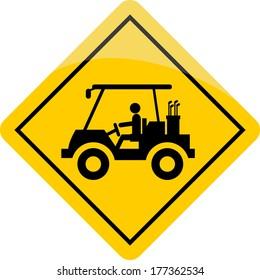 Golf Cart traffic sign warning
