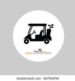 Golf cart.vector illustration.eps10.