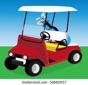 golf cart.vector illustrator