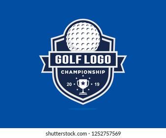 Golf championship logo template