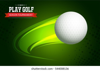 Golf club competition tournament template poster or banner vector design.