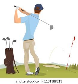 Golf Club Golfer Vector Illustration Design