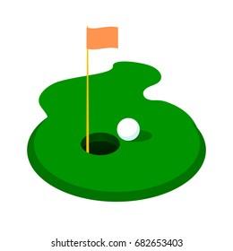 Golf club icon. Vector flat illustration