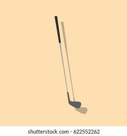 Golf club icon, vector illustration design. Sport objects collection.