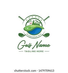 Golf club logo design inspiration
