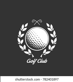 Golf club logo design template, can be used for golf course or golf tournament card
