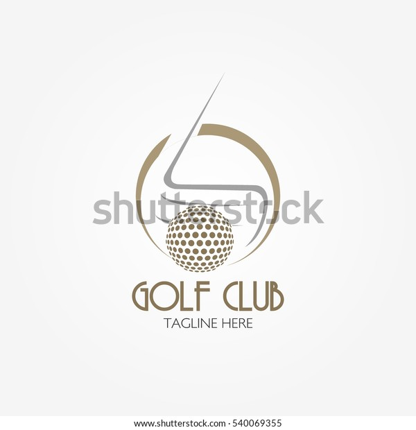 Golf Club Logo Design Template Flat Stock Vector Royalty Free 540069355
