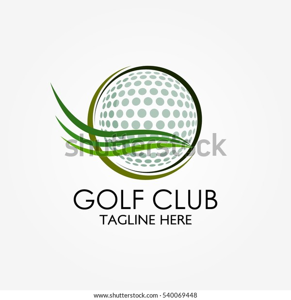 Golf Club Logo Design Template Flat Stock Vector Royalty Free 540069448