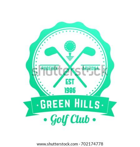 Golf Club Logo Emblem Badge Crossed Stock Vector (Royalty Free ... Golf Clubs Crossed Logo Design on golf t-shirt logo design, baseball skull tattoo design, golf club embroidery design,