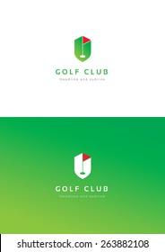 Golf club logo teamplate.