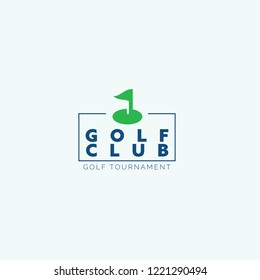 Golf club logo for golf tournaments, organizations and country clubs. vector illustrator