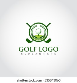 Golf club logo for golf tournaments, organizations and country clubs. vector illustrator eps.10