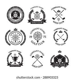golf logo images stock photos vectors shutterstock