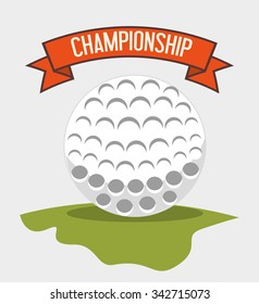 Golf club sport game graphic design, vector illustration eps10