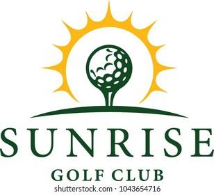 A golf club symbol of the sun