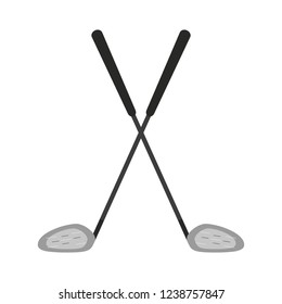 Golf clubs crossed