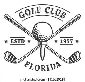 Golf clubs emblem logo