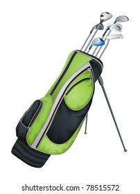 Golf Clubs vector