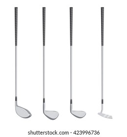 golf clubs vector illustration isolated on a white background