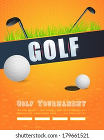 Golf Concept Flyer, Poster, Ad Design Vector Template