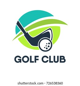 Golf country club logo template or icon for tournament