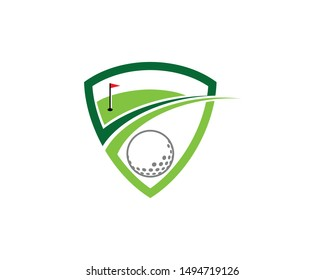 Golf Course ball and hole