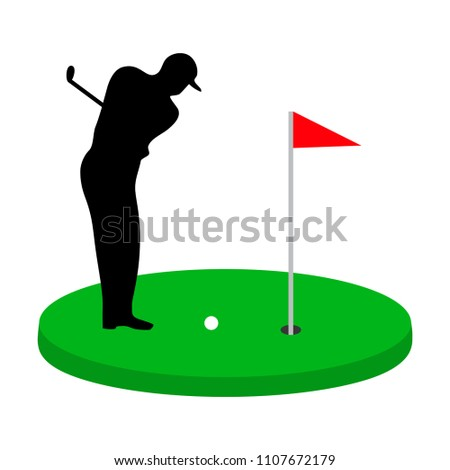 Golf Course Golf Equipment Accessory Template Stock Vector (Royalty on miniature putting green, zip line tower design, rafting course design, shooting course design, obstacle course design, sporting clay course design, putt-putt course design, paintball course design, show jumping course design, cross country running course design, dog rally course design, miniature golfing, miniature home, croquet course design, equestrian course design, putting course design, laser tag course design, culinary arts kitchen design, 3d archery course design, softball course design,