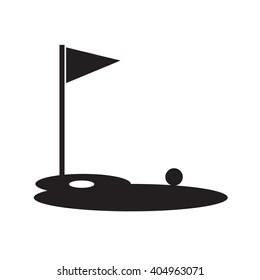 Golf course Icon Illustration design