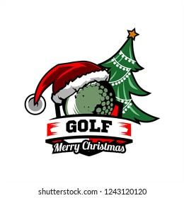 Golf Cristmas Tree Logo