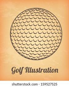 golf design over pink   background vector illustration