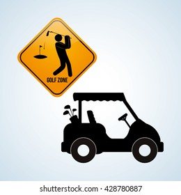 Golf design. Sport icon. Isolated illustration, editable vector