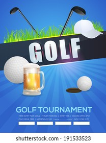 Golf Event Poster Template Vector Background