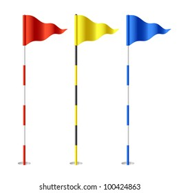 Golf flags. Vector.