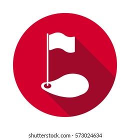 Golf flat icon.