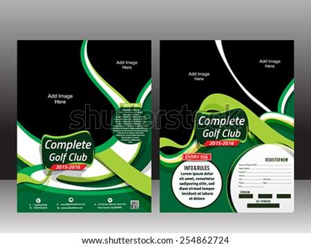golf flyer template green wave vector stock vector royalty free
