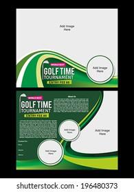 golf tournament flyer template vector illustration stock vector