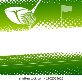 Golf game background. Vector illustration sports theme.