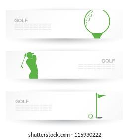 Golf headers - vector illustration
