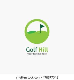 Golf Hill logo, labels and emblems. Vector Illustration