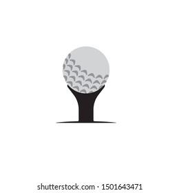 Golf icon logo design template