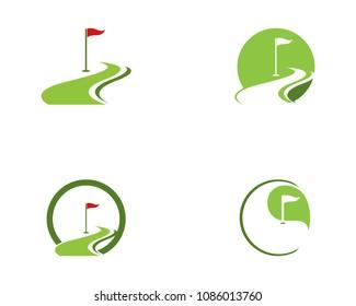 Golf icon logo template