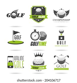 Golf icon set - 2