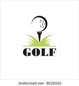 Golf icon. vector symbol