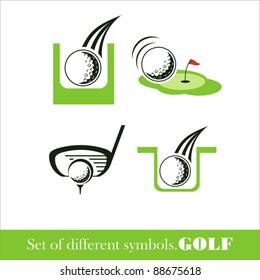 Golf icon. vector symbol