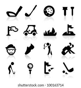 Golf Icons set icons set  - Elegant series
