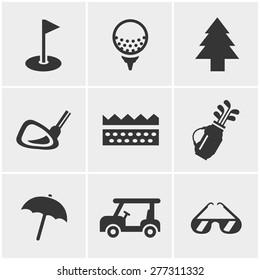 golf  Icons Set, Vector Design