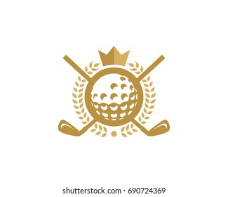 Golf King Icon Logo Design Element
