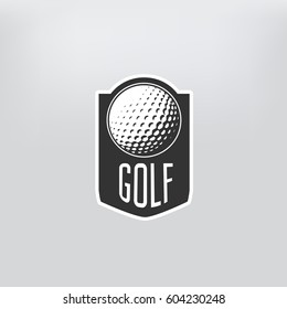 Golf label. sign of golf championship or golf club. Vector illustration