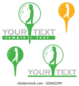 Golf label - vector illustration